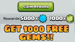 Get 1000 GEMS For Free in Clash of Clans - 100% Safe - 2017