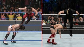 WWE 2K19 vs WWE 2K15 - 15 Finisher Comparisons! (Which are better?)