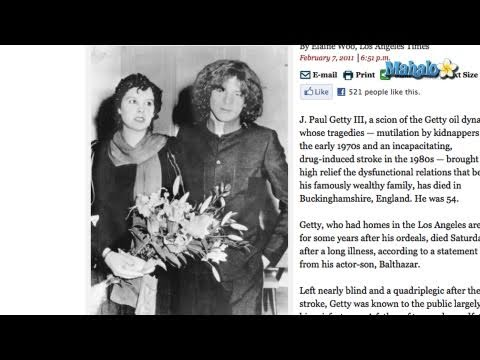 J. Paul Getty III Dies