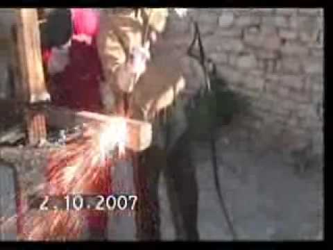 Demo of cutting CONCRETE block with Exothermic cutting electrode