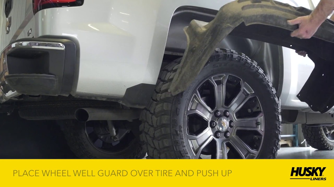 Without The Appearance Of Liner: Husky Liners® Wheel Well Guard Sierra/Silverado