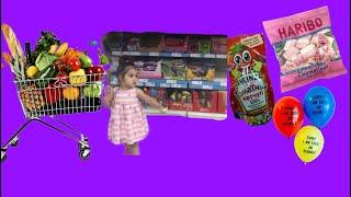 Rana Markete Abur Cubur Alışverişine Gitti.For Kids Video