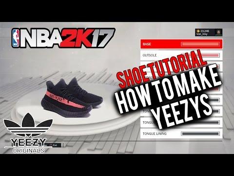 NBA 2K17 Shoe Creator  ⋆#NBA2K17⋆ How To Make Yeezys! Yeezys Are Finally Here! 🔥👟🔌