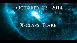 10/22/2014 -- ANOTHER X-class Solar Flare (X1.6) -- Earth Facing -- Links below