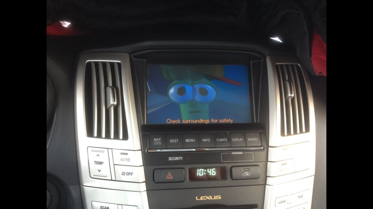 2009 Lexus Rx350 With Video Playback On Factory Nav Screen