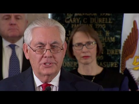 Rex Tillerson emphasizes integrity and kindness in farewell speech