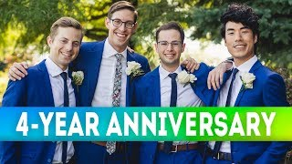 The #TryGuys celebrate their 4th Birthday by challenging each other to a trivia game based on their vast library of video titles. #Anniversary Support us!