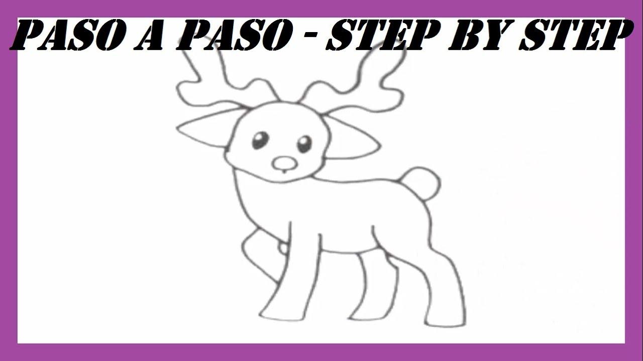 Como dibujar un reno l how to draw a reindeer l dibujos for Dibujos de renos en navidad