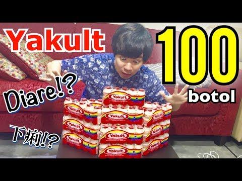 Minum Yakult 100 Botol Challenge!! 100