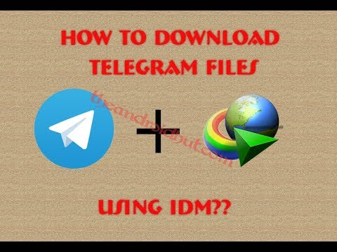 How to download telegram files using download manager (No app, No root)