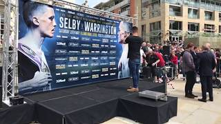 LIVE: SELBY-WARRINGTON WEIGH-IN FROM LEEDS CITY CENTRE