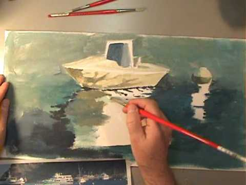 How to Paint Water and Reflections - YouTube