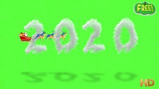 3D Sky 2020 Green screen With Santa Claus Animated FULL HD