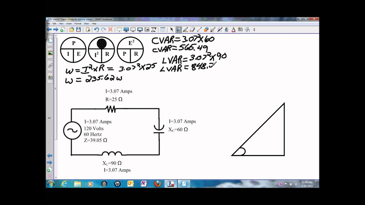 power in a series rlc circuit wmv youtube rh youtube com