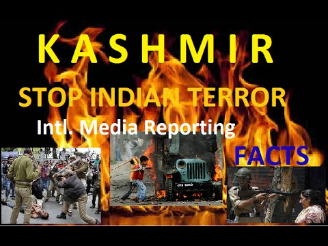 Burning KASHMIR- Freedom from INDIA-  Serious violation of Human Rights by Indian ARMY!!09.2016