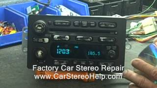 Broken Car Stereo 6 CD GM Delco Delphi Chevy GMC Buick Pontiac worn Buttons Knob lights out