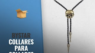Bystar 2018 Mejores Ventas: Bystar Unisex Vintage Bolo Tie Necklace Skull Genuine Leather Necklace
