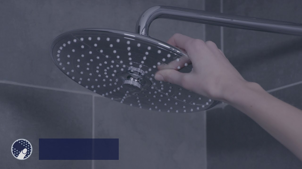 grohe vitalio joy rain showerhead product video youtube. Black Bedroom Furniture Sets. Home Design Ideas