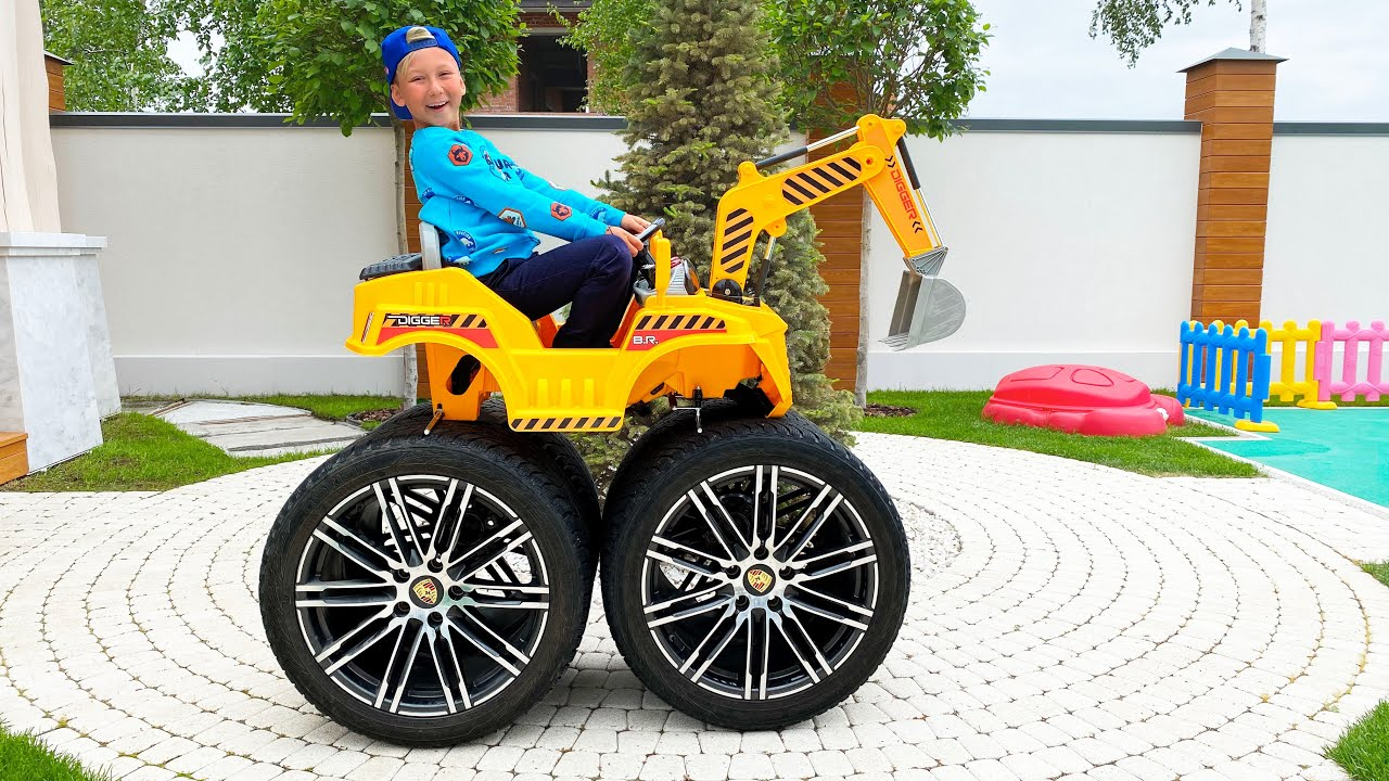 Senya and Giant Power Wheels - compilation videos for kids