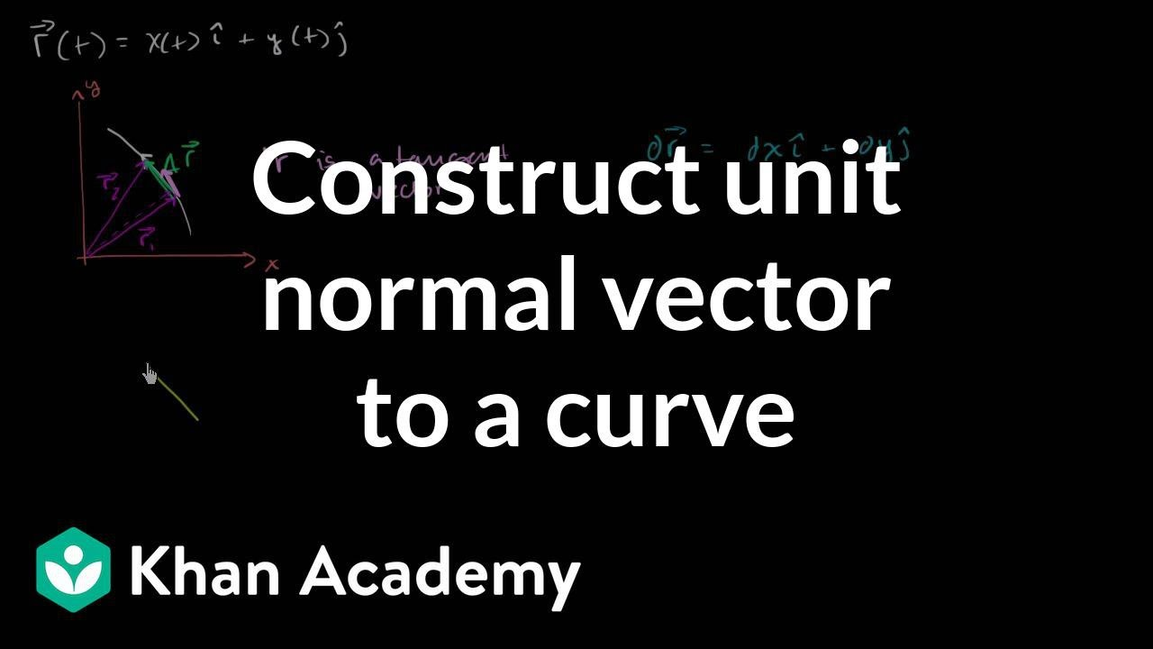 Constructing a unit normal vector to a curve (video) | Khan Academy