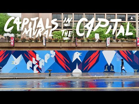 Ep 9 // Making a Mural for the Stanley Cup Playoffs! (Washin
