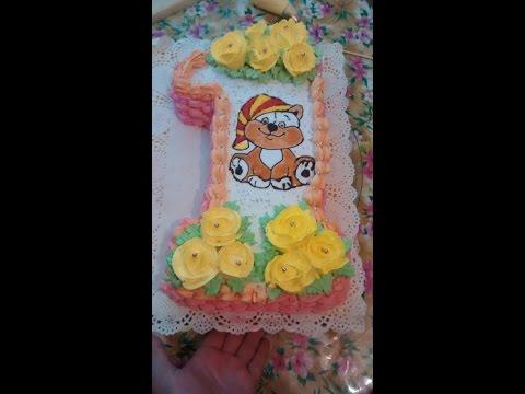 Как сделать торт единичку