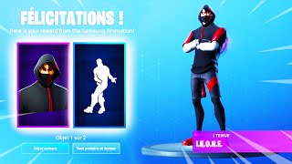I HAVE THE NEW SKIN A 1000 EUROS ON FORTNITE! SKIN IKONIK SAMSUNG S10