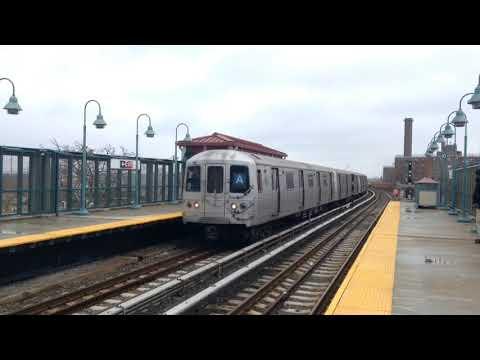 IND Rockaway Line: R46 (A) Train & Rockaway Park (S)huttle Train @ Beach 90th Street