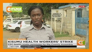 Kisumu health workers' strike