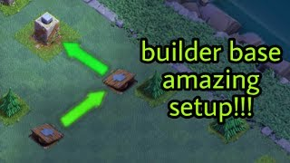 Clash Of Clans builder base amazing push trap setup!!!