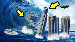 أعظم تسونامي في التاريخ على قراند 5 | GTA 5 Tsunami