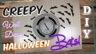 DIY | CREEPY BATS | HALLOWEEN WALL DECOR | October 2019