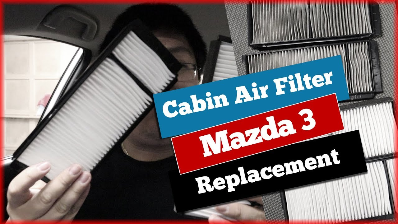 mazda 3 cabin air filter change replacement without glovebox removal [ 1280 x 720 Pixel ]