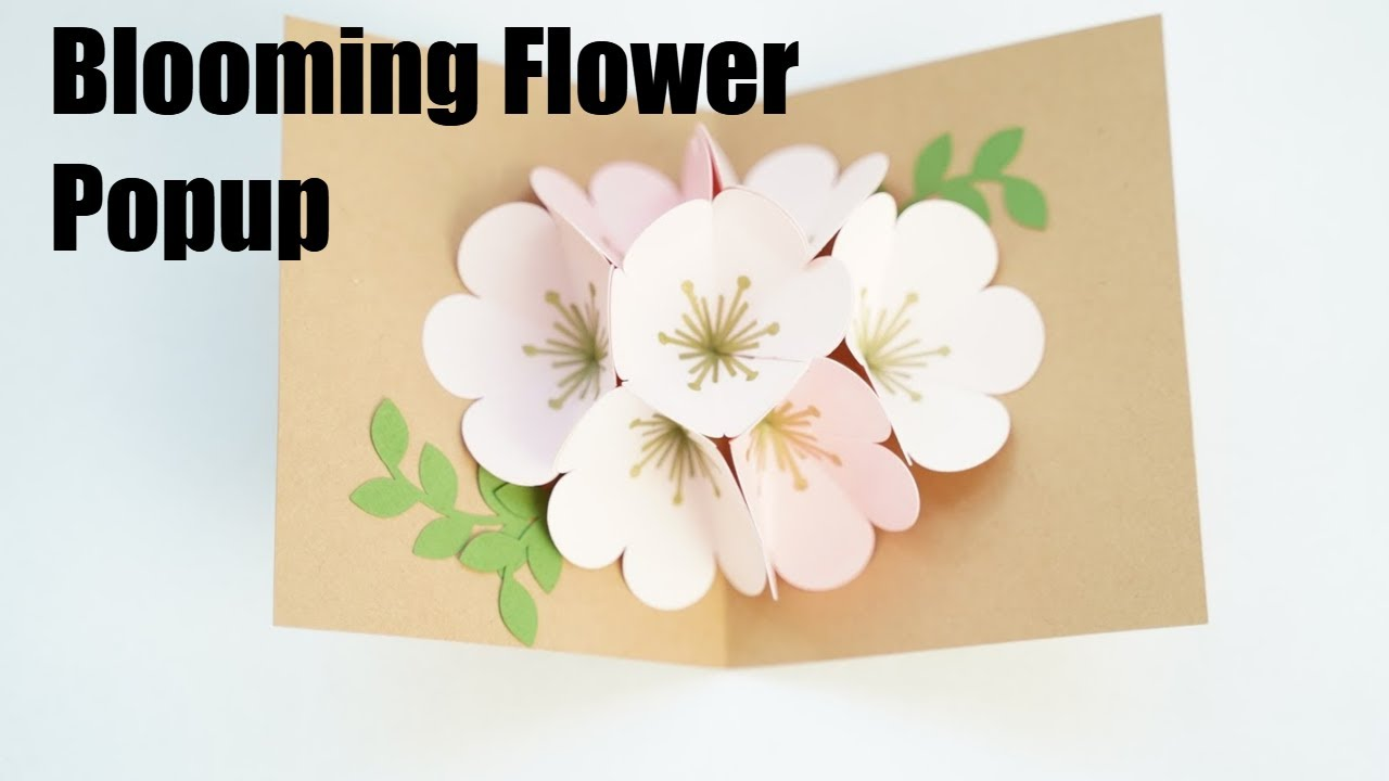 Pop up floral bouquet card