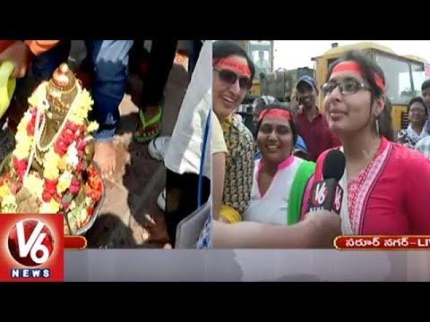 Ganesh Nimajjanam At Saroor Nagar Mini Tank Bund | Ganesh Immersion 2018 | V6 News