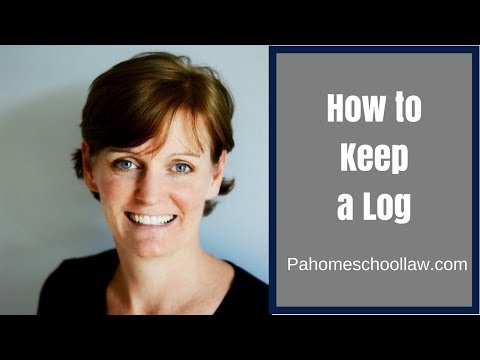 How to Keep a Log That Complies With the PA Homeschool Law