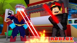 SUPERMAN STEALS FROM LITTLE ROPO ??? SUPERHERO BATTLE!! Sharky Gaming | Roblox