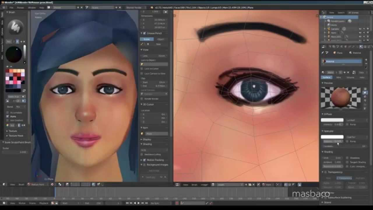texture painting in blender 273 YouTube