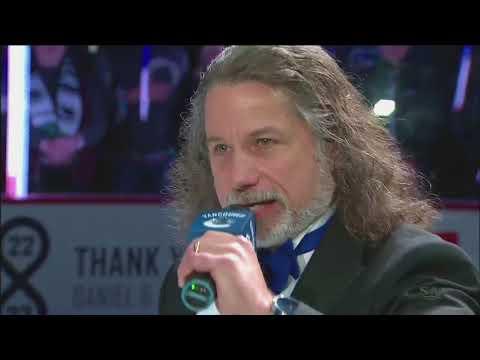 Daniel and Henrik Sedin - Final Home Game National Anthem 04/05/18 [HD]