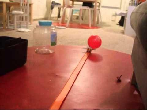 Balloon Powered Lego Car - YouTube