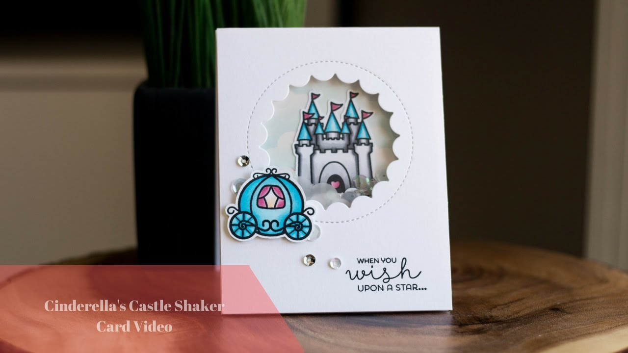 cinderella's castle shaker card video - youtube