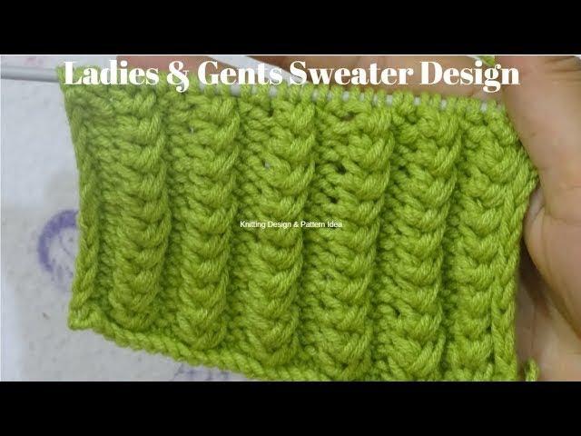 easy sweater bunai 108 || knitting pattern for ladies & gents in hindi 108.