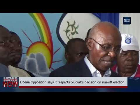Liberia Opposition says it respect S'Court's decision on run-off election