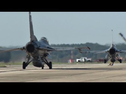 Shaw Air Force Base F-16 Fighters Evacuate As Hurricane Irma Approaches