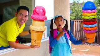 Wendy Pretend Play w/ Ice Cream Delivery Drive Thru Toy Store