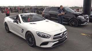 585HP Mercedes AMG SL63 vs Mercedes AMG S63 Coupe vs Liberty Walk GTR