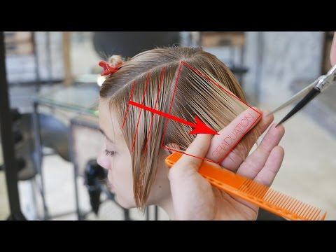 Step by Step Short Women's Haircut With Long Fringe