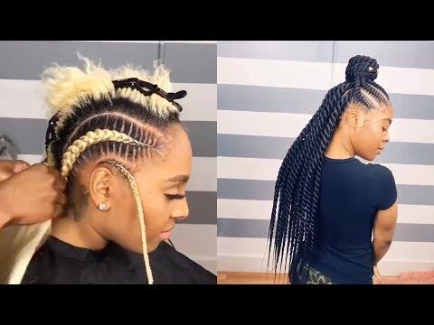 HOW TO DO FEED IN BRAIDS | KANEKALON BRAIDING HAIR TUTORIAL