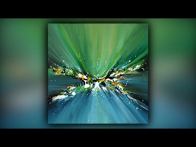 Easy Abstract Painting for Beginners / Palette Knife Technique / Demo #077