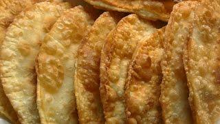 Домашние чебуреки на заварном тесте/Homemade pasties on choux pastry